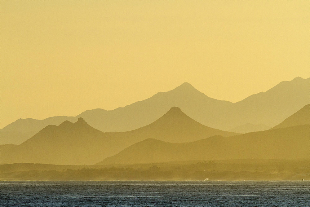 Sunset, Baja Peninsula, Gulf of California (Sea of Cortez), Baja California Sur, Mexico, North America