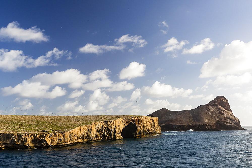 Teuaua Island, left and Hemeni Island, right, off Ua Huka, Marquesas, French Polynesia. - 1112-3925