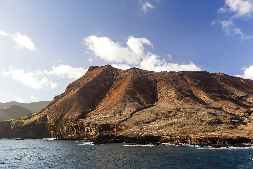 The rugged shoreline of Ua Huka Island, Marquesas, French Polynesia, South Pacific, Pacific