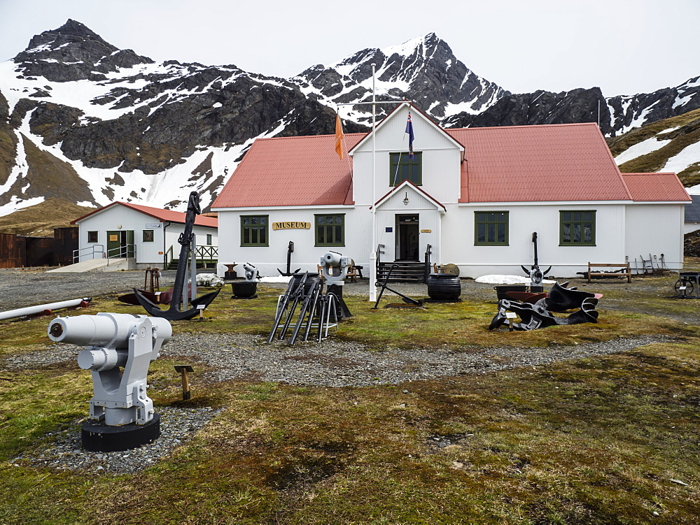 The natural history museum at Grytviken, now cleaned and refurbished for tourism on South Georgia Island, Atlantic Ocean - 1112-4101