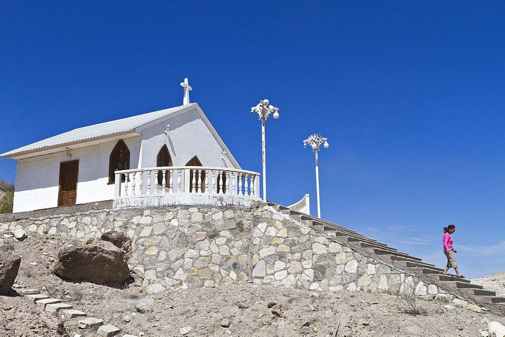 Catholic Church, Isla San Marcos, Gulf of California (Sea of Cortez), Baja California Sur, Mexico, North America