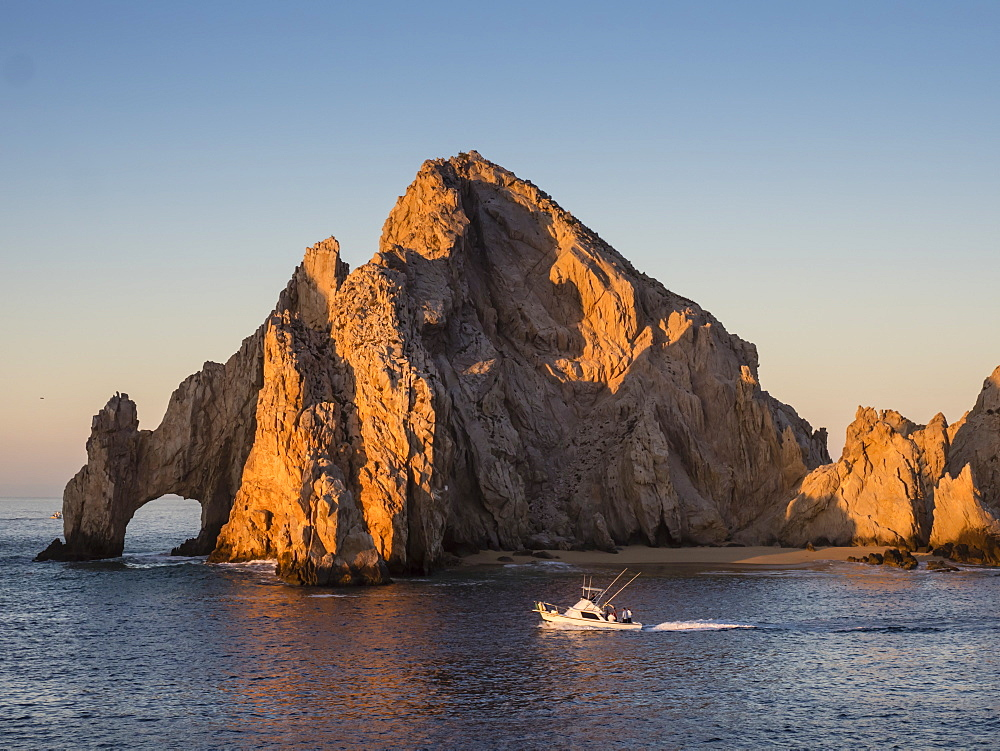 Sunrise light paints Lands End at Cabo San Lucas, Baja California Sur, Mexico, North America - 1112-4372