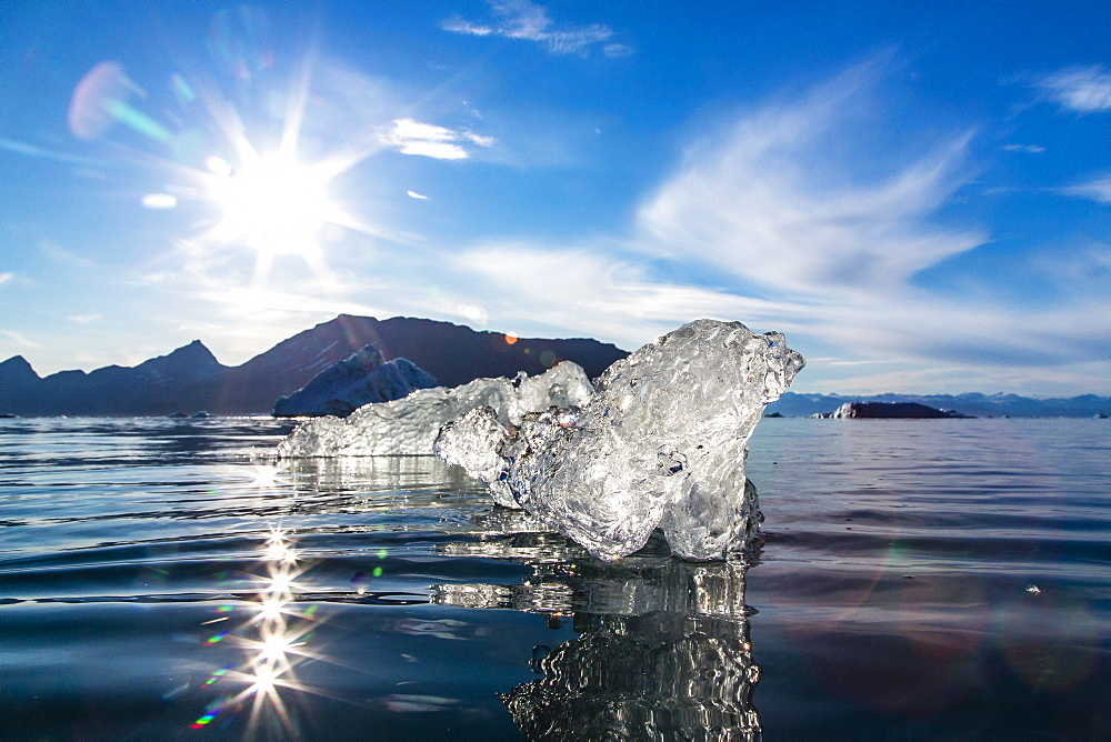 Floating ice, Vikingbukta (Viking Bay), Scoresbysund, Northeast Greenland, Polar Regions