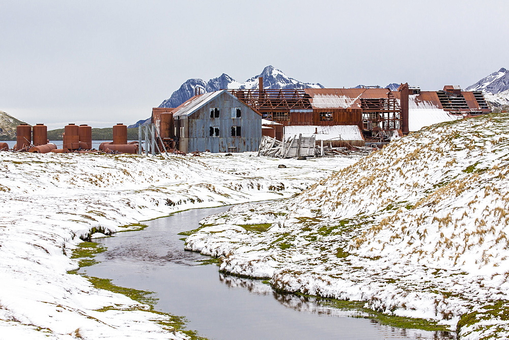 The abandoned Norwegian Whaling Station at Stromness Bay, South Georgia, South Atlantic Ocean, Polar Regions