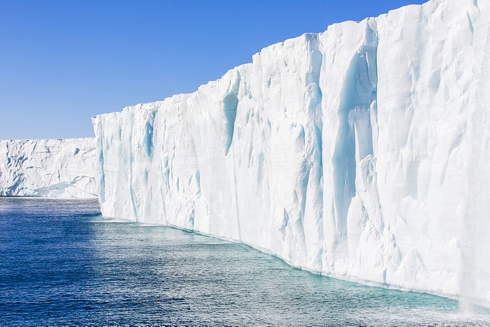 Austfonna ice cap, Nordaustlandet, Svalbard, Norway, Scandinavia, Europe