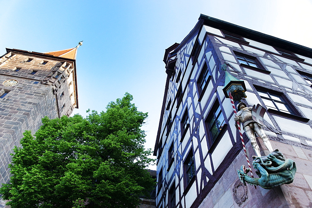 Pilatus House, Tiergaertnertorplatz Nuremberg, Middle Franconia, Bavaria, Germany