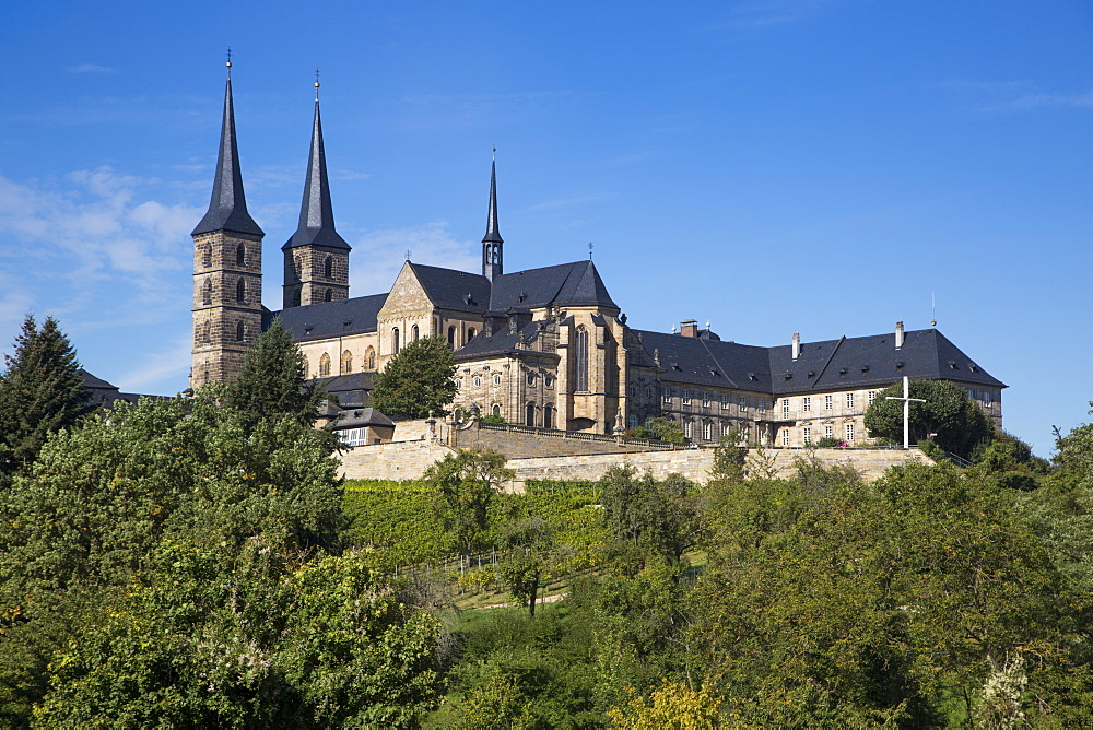 St. Michael's abbey on Michaelsberg in the Bergstadt district, Bamberg, Franconia, Bavaria, Germany