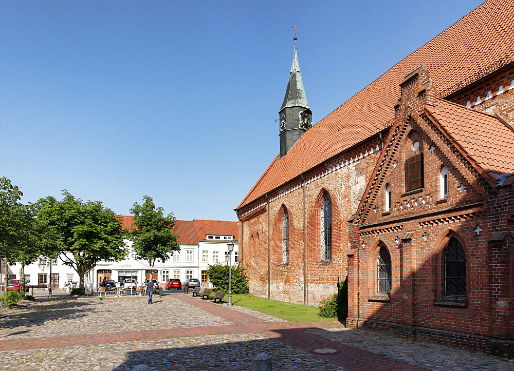 City Church at the Market, Krakow at the Lake, Mecklenburg-Western Pomerania, Germany