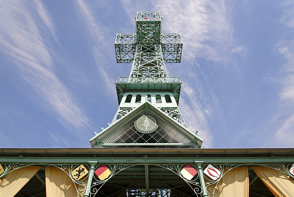 Joseph cross, observation tower near Stolberg, Harz, Saxony-Anhalt, Germany, Europe