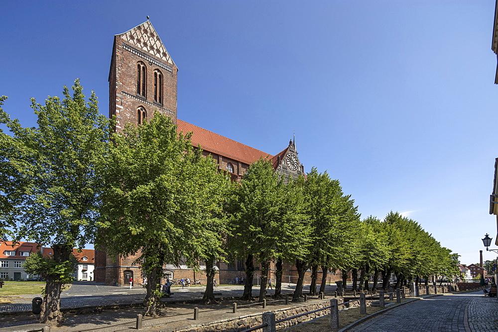 Nikolai church in Wismar, Mecklenburg Vorpommern, Germany