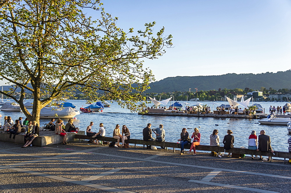 lake Zurich promenade, Zurich, Switzerland