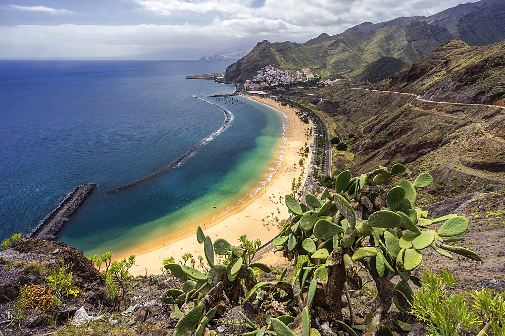 Tenerife beach, Playa de las Teresitas, Tenerife, Canary Islands, Spain