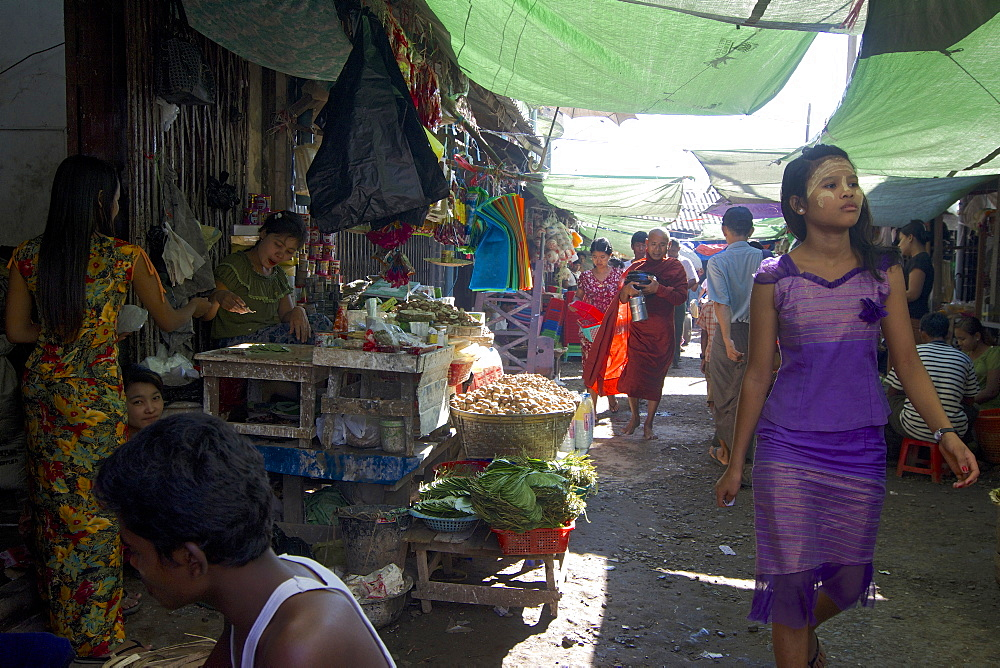 Market at Sittwe, Akyab, Rakhaing State, Arakan, Myanmar, Burma