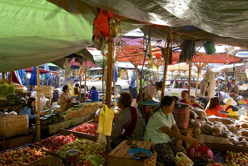At the market at Taunggyi, Shan State, Myanmar, Burma