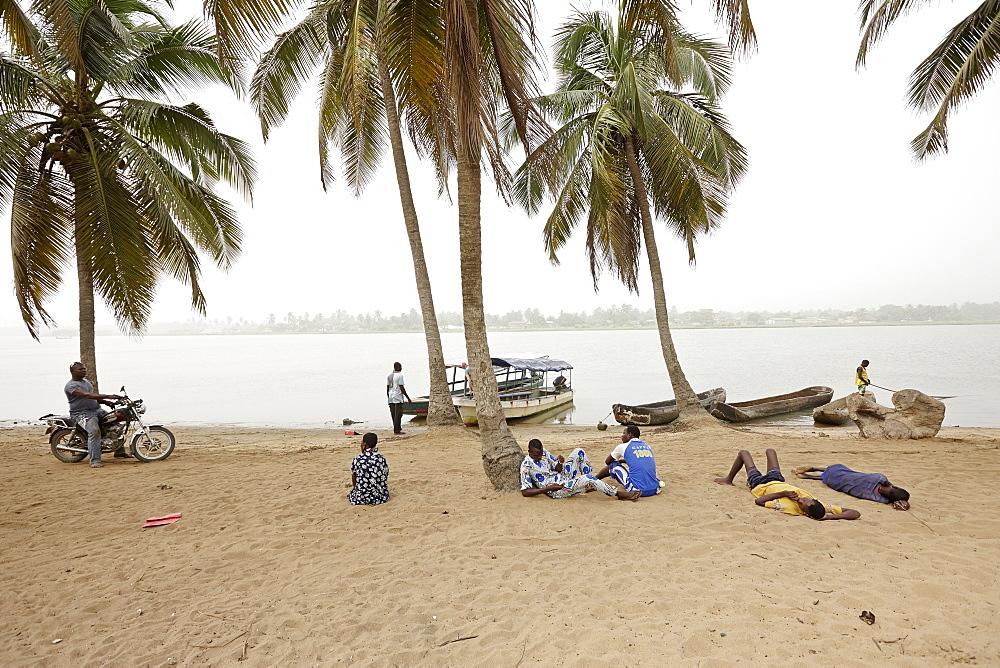 Boats at the Mono riverbank, Grand-Popo, Mono Department, Benin