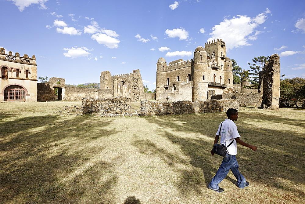 Fasil Ghebbi fortress, Gondar, Amhara region, Ethiopia