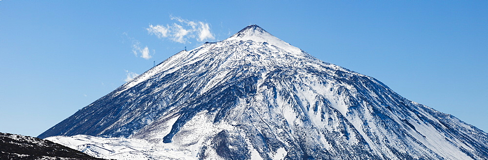 View to Teide, 3718m, the island´s landmark, highest point in Spain, volcanic mountain, Tenerife, Canary Islands, Spain, Europe