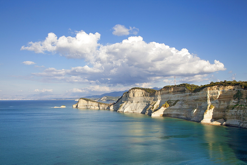 Rocky coast at Cape Drastis, near Peroulades, Sidari, Corfu island, Ionian islands, Greece