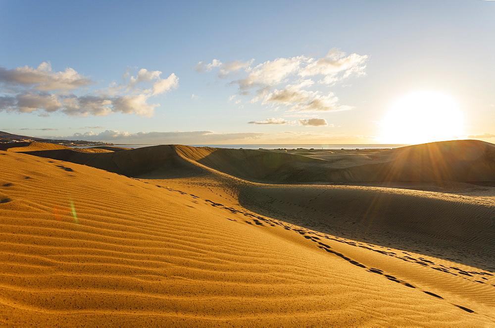 Dunes of Maspalomas, Dunas de Maspalomas, natural reserve, Maspalomas, municipality of San Bartolome de Tirajana, Gran Canaria,