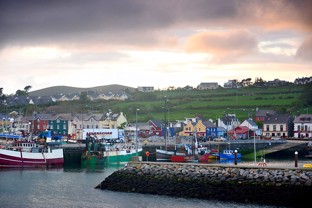 Dingle harbour in the evening, Dingle peninsula, Kerry, West coast, Ireland