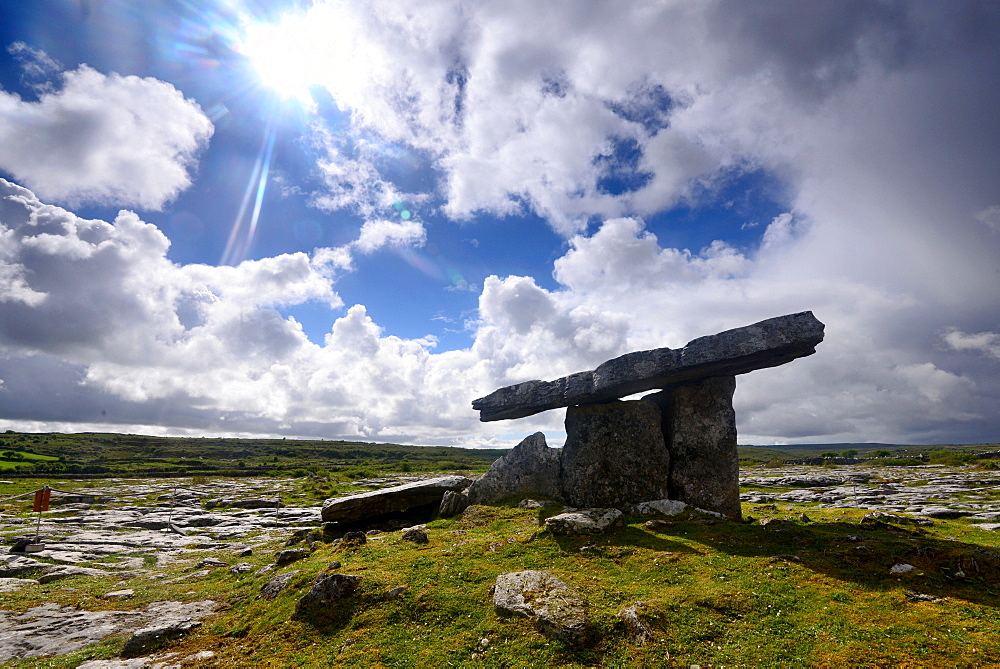 Poulnabrone Dolmen in the Burren, Clare, West coast, Ireland
