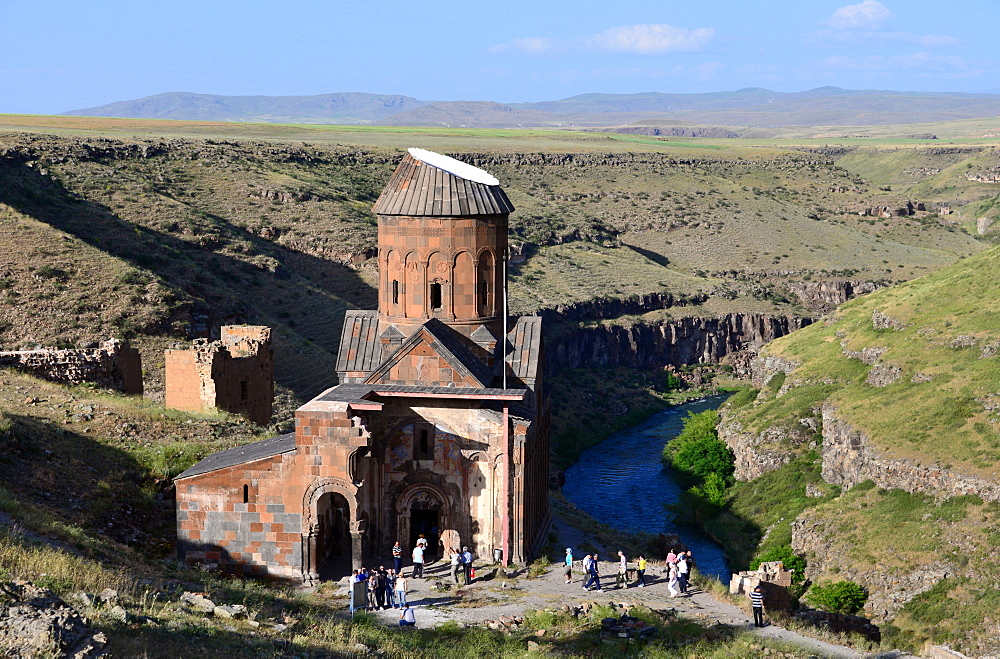 Gregory church of Tigran in the ruins of Ani near Kars, Kurds area, east Anatolia, East Turkey, Turkey