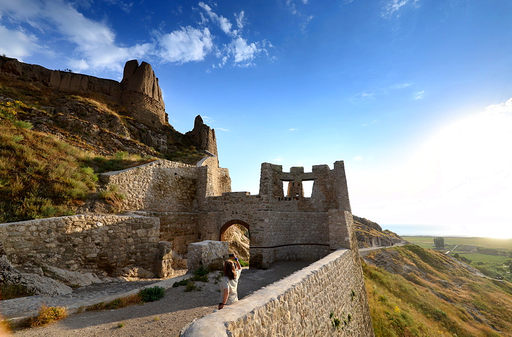 Castle near Van, Lake Van, Kurd populated area, east Anatolia, East Turkey, Turkey