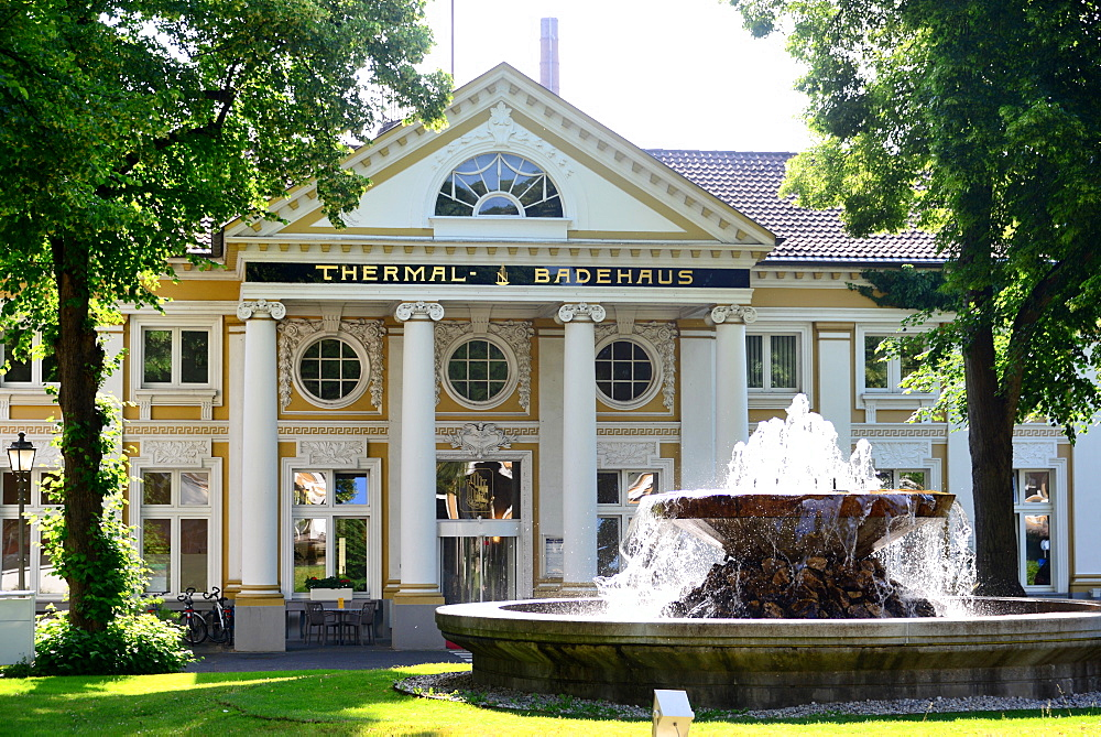 Thermal baths, Thermal Badehaus, Bad Neuenahr in the Ahr Valley, Eifel, Rhineland-Palatinate, Germany