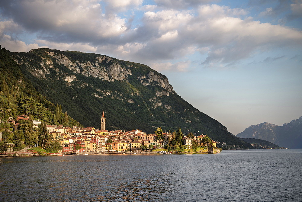 view of the historic center of Varenna, Como Lake, Lombardy, Italy, Europe