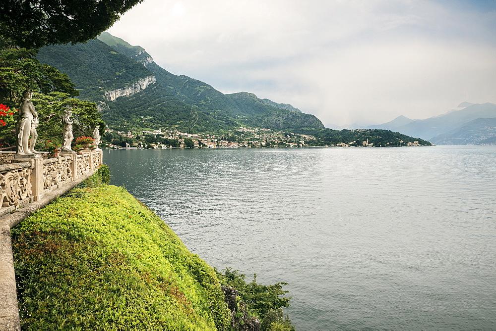 View of Lake Como from Villa del Balbianello, Lenno, Lombardy, Italy, Europe