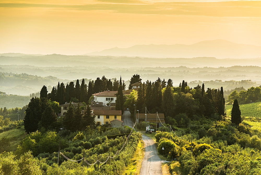 landscape near Tavarnelle Val di Pesa, Chianti, Tuscany, Italy