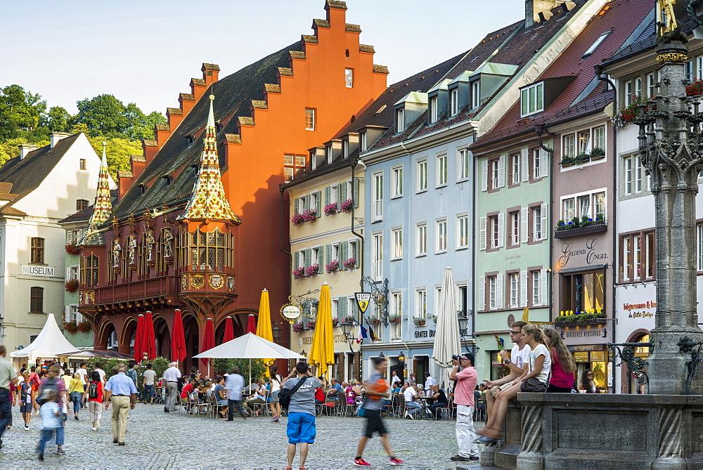 Muensterplatz square, historic center, Freiburg im Breisgau, Black Forest, Baden-Wuerttemberg, Germany
