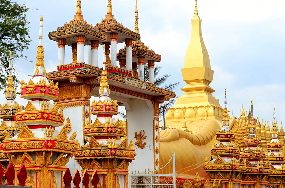 Wat That Luang, Vientiane, Laos, Asia