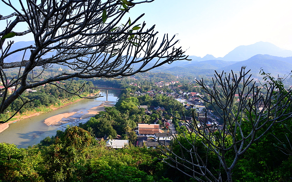 View from Phou Si Hill, Luang Prabang, Laos, Asia