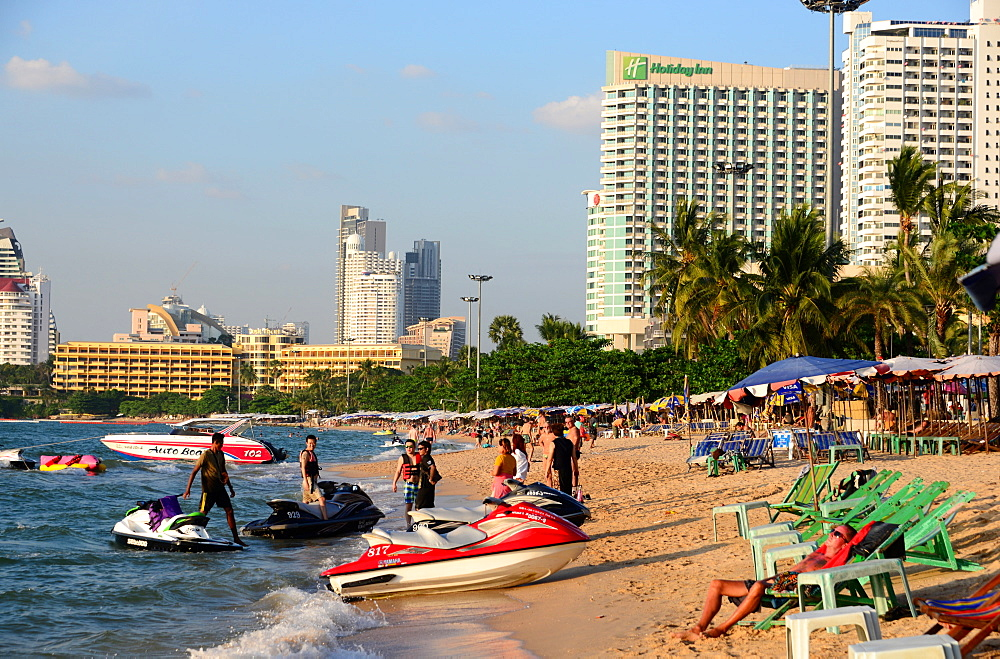 Pattaya City Beach, Pattaya, Chon Buri, Golf of Thailand, Thailand