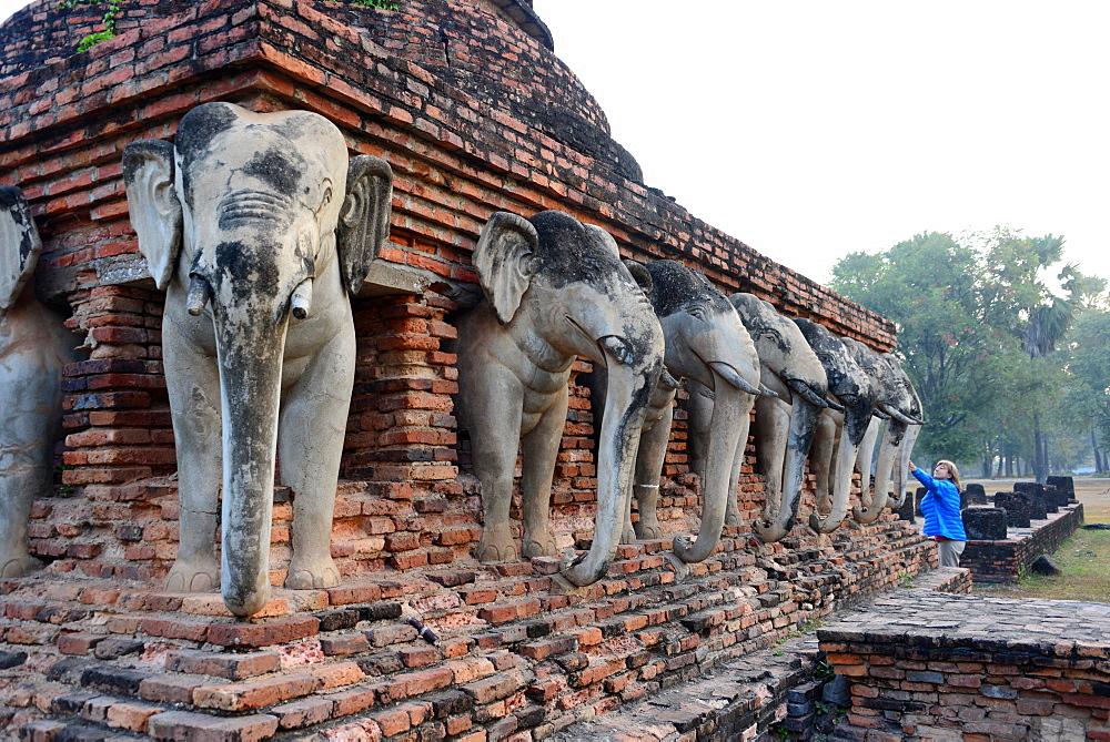 Wat Sorasak, Old-Sukhothai, Thailand