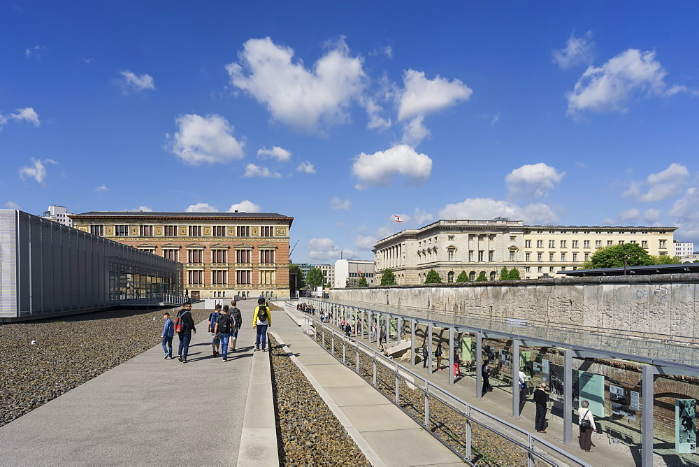 Topography of Terror, Documentation Center of Nazi Terror with parts of the Berlin Wall, Berlin, Germany