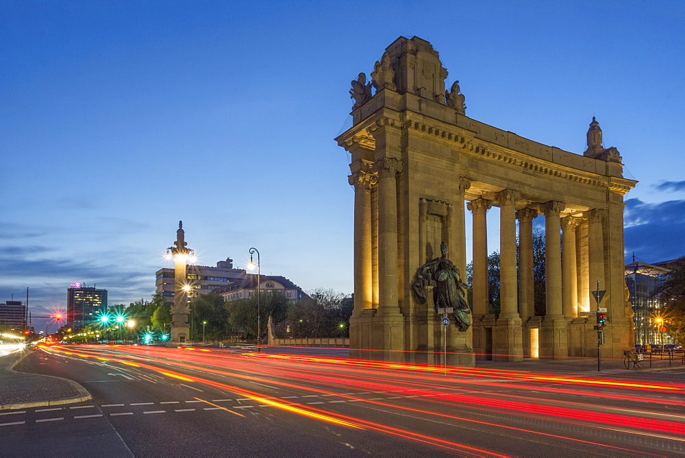 The Charlottenburg Gate at Twilight, Charlottenburg, Tiergarten, Berlin, Germany