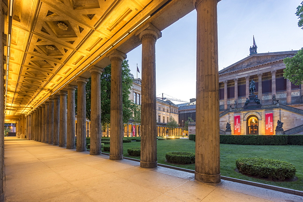 Old National Gallery, Colonnade, Museum Island, Berlin Mitte, Berlin, Germany