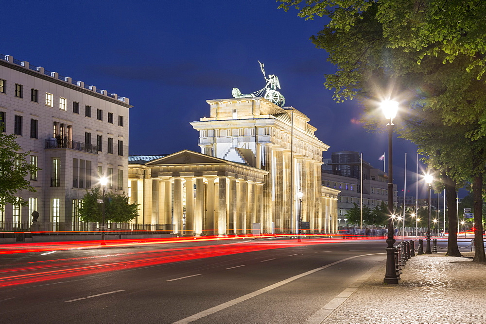 Brandenburg Gate at Twilight, Berlin, Germany