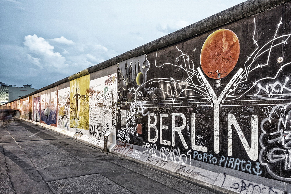 Berlin Wall mural, East Side Gallery, Berlin, Germany