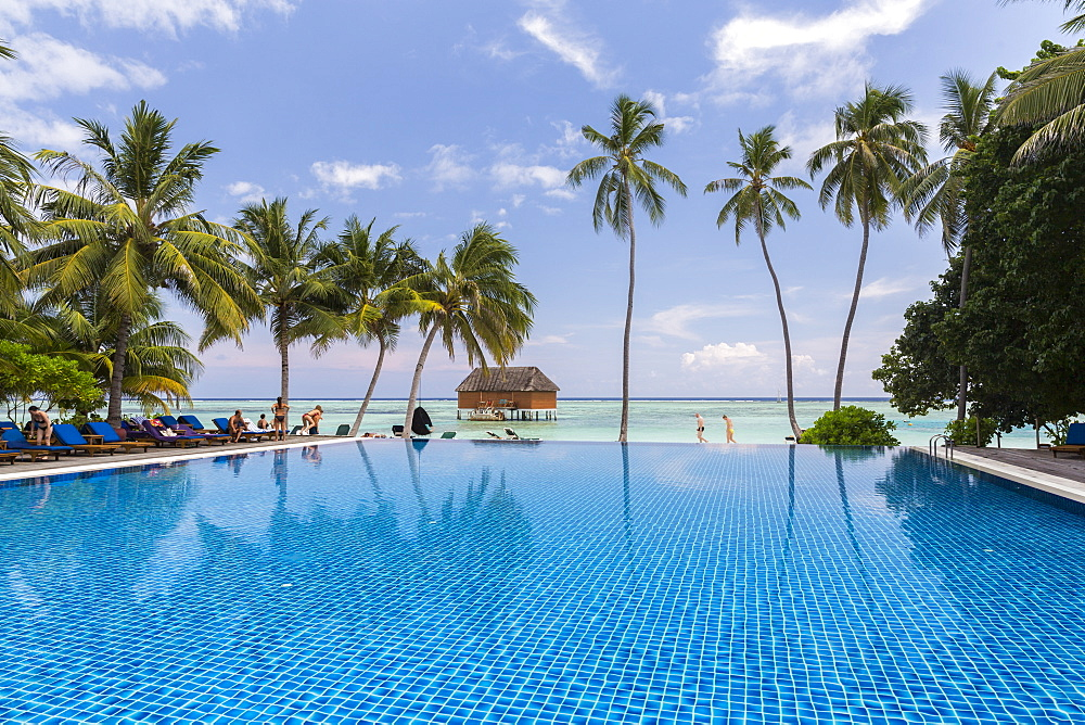 Swimming pool at Meeru Island Resort, Meerufenfushi, North-Male-Atoll, Maldives