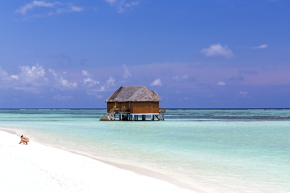 Honeymoon-watervilla at Meeru Island Resort, Meerufenfushi, North-Male-Atoll, Maldives