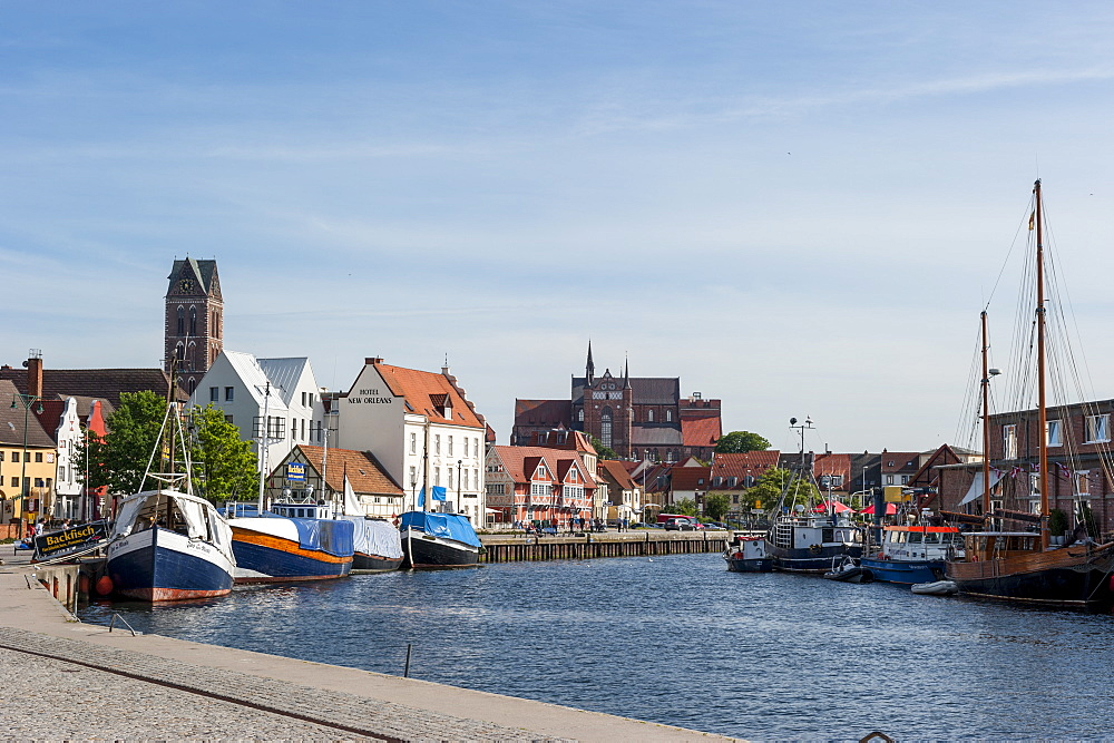 harbour, port in Wismar, Baltic Sea, Germany, Europe - 1113-102395