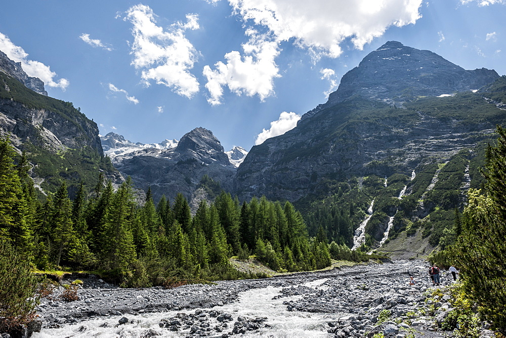 Mountain landscape, Ortler, alps, Trafoi, Trentino, Alto Adige, South Tyrol, Italy, Europe