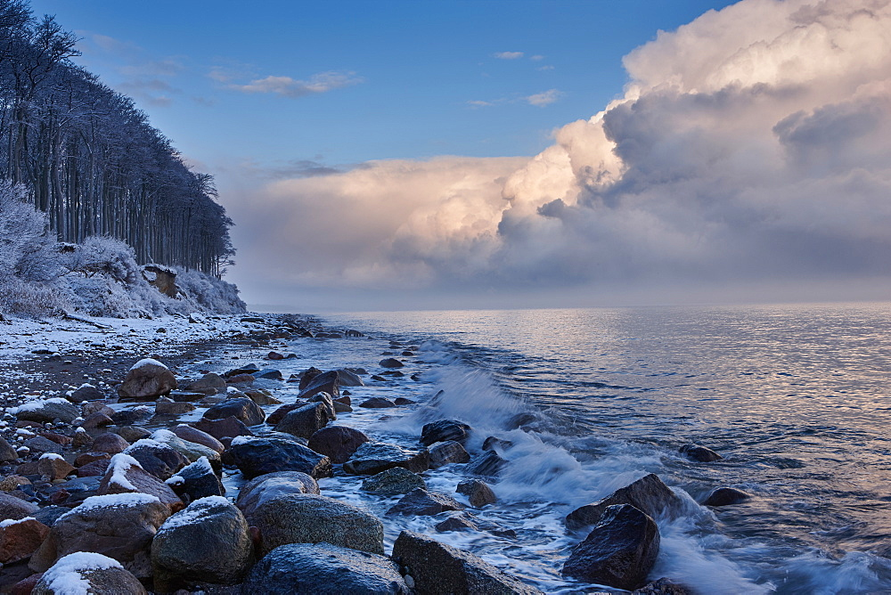 Winter along the Baltic Sea Coast, Heiligendamm, Mecklenburg Western Pomerania, Germany
