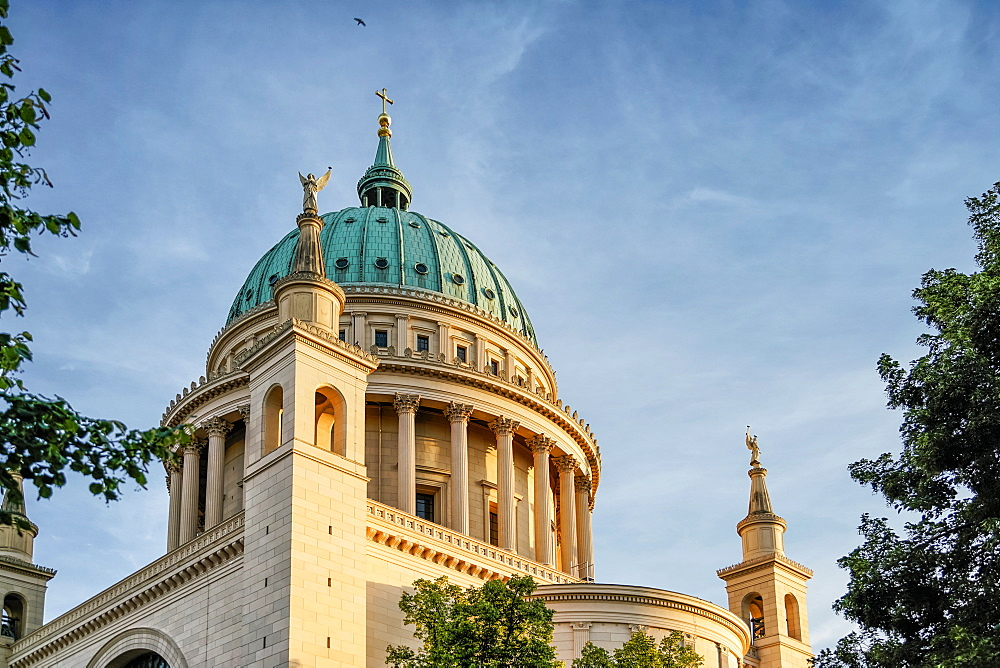 Dome of St. Nicholas church, Nikolaikirche, Alter Markt, Potsdam, Brandenburg, Germany