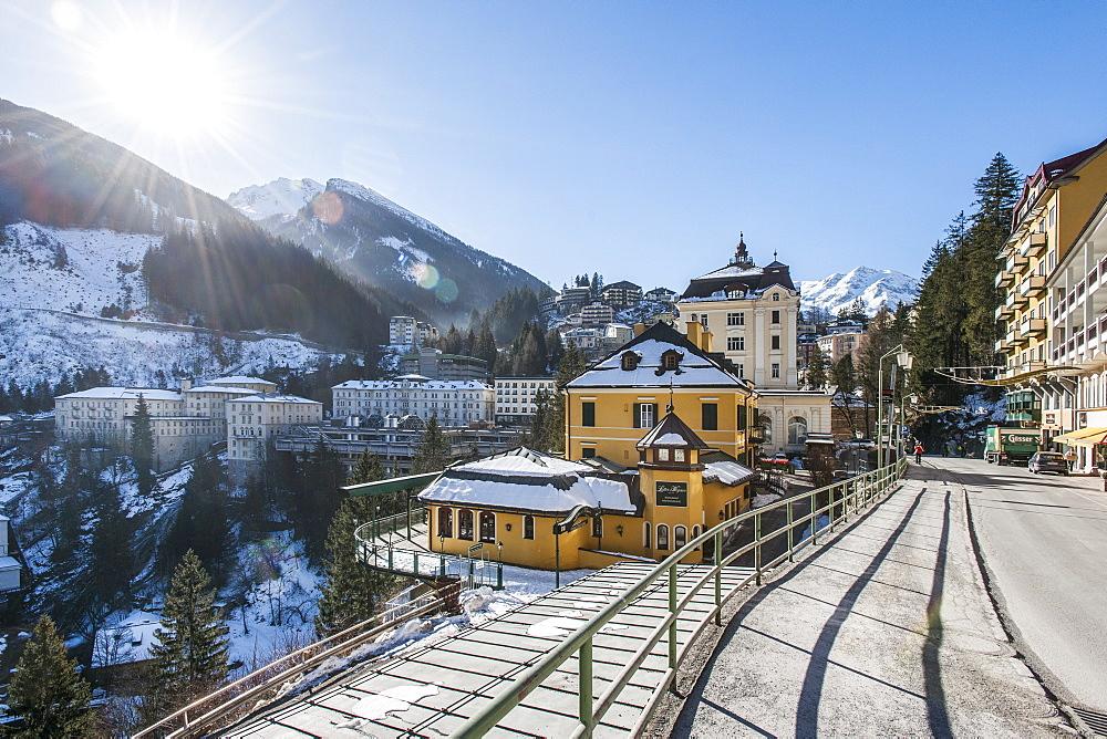 view to Bad Gastein, Salzburger Land, Austria, Europe