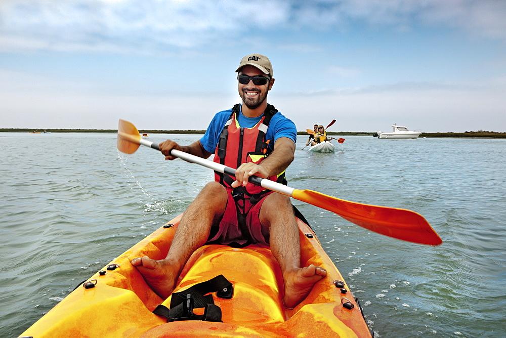 Kayak tour, Parque Natural da Ria Formosa, Faro, Algarve, Portugal
