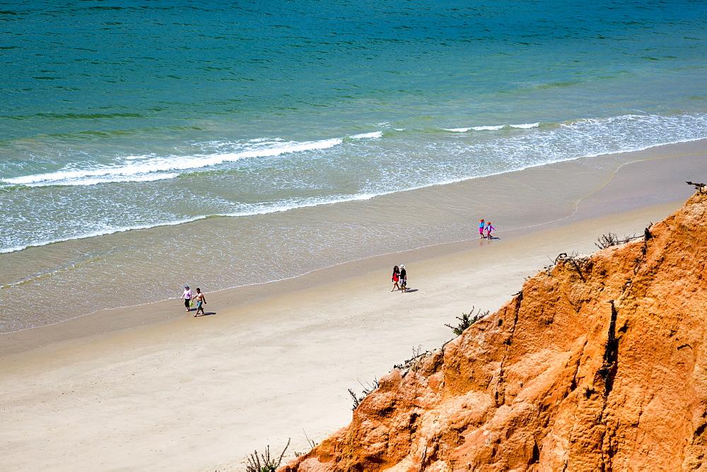 Red cliffs, Praia de Falesia, Albufeira, Algarve, Portugal